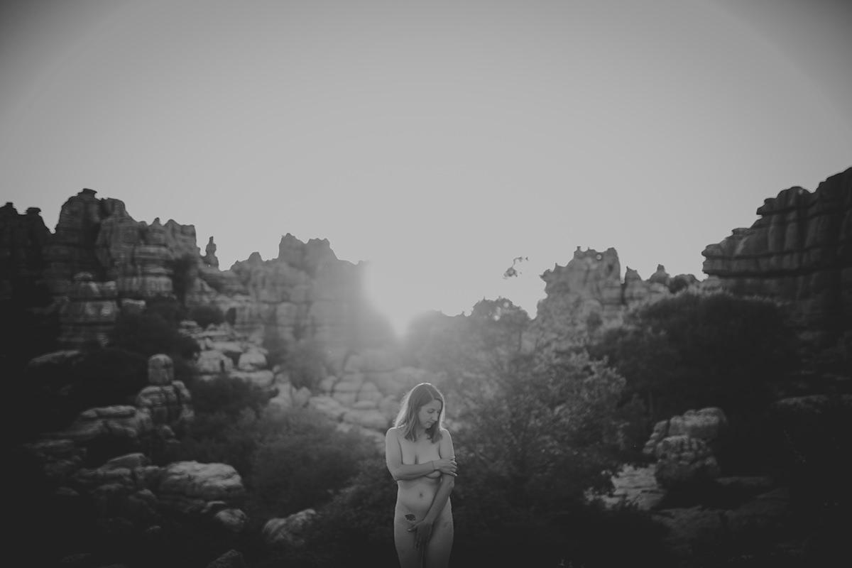 retrato mujer desnudo torcal antequera