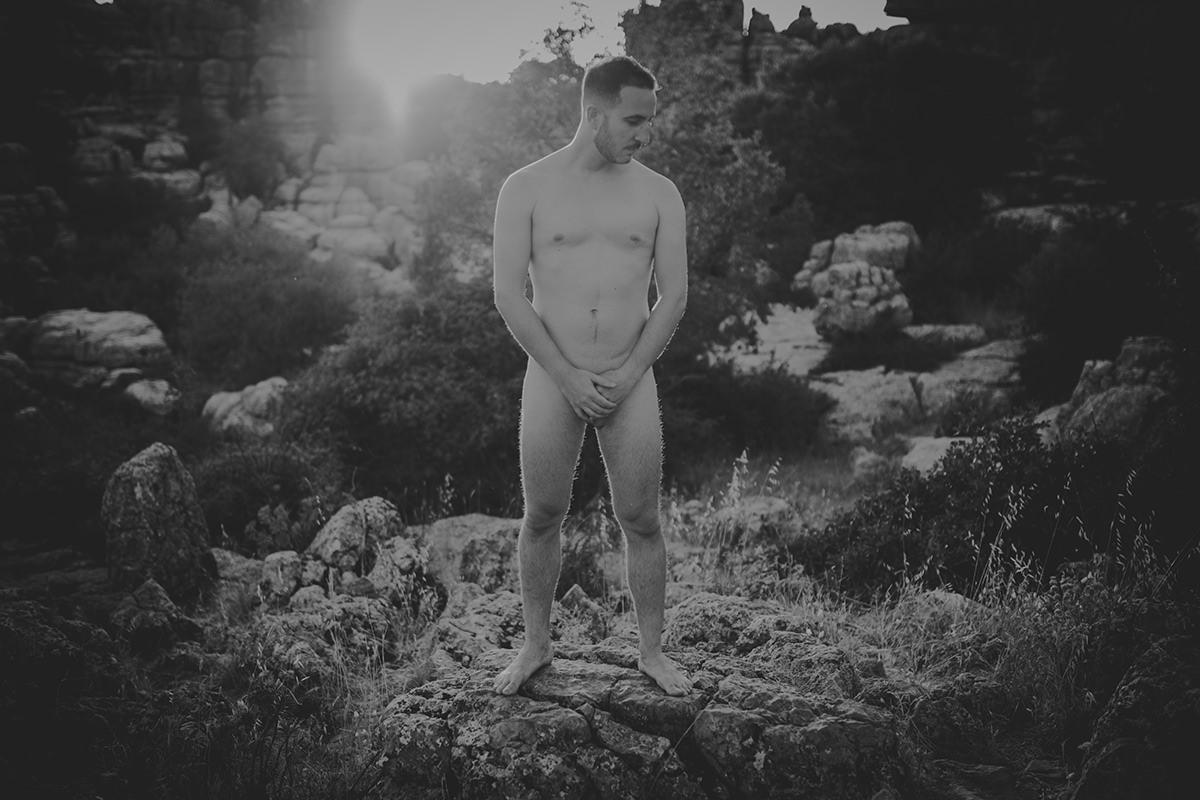 retrato novio desnudo torcal