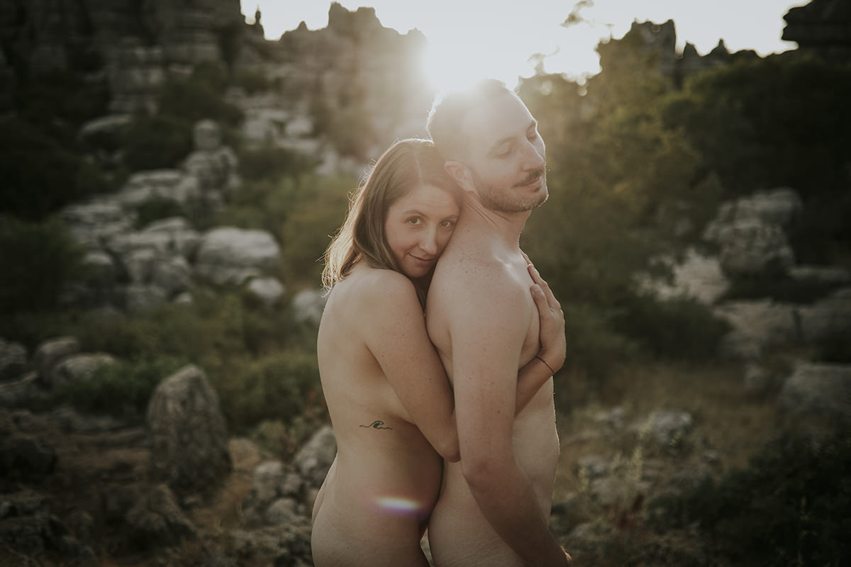 retrato pareja desnudo íntimo