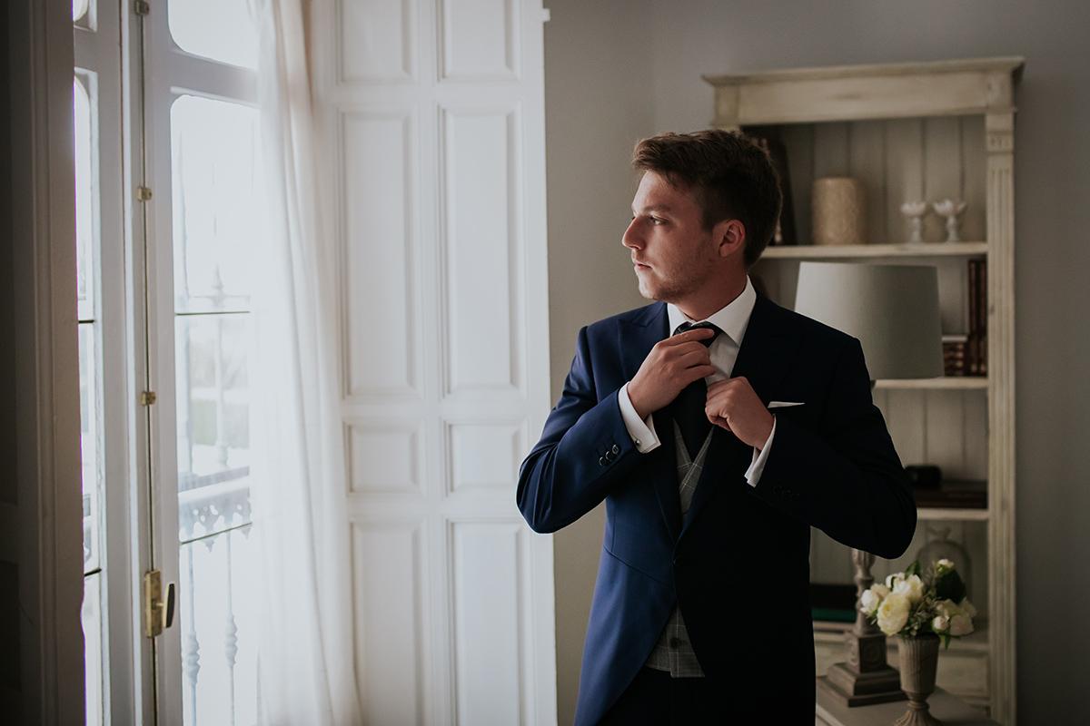 fotografía boda traje