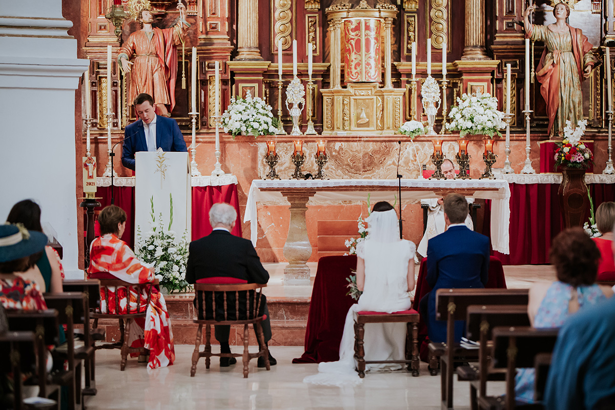 altar iglesia boda