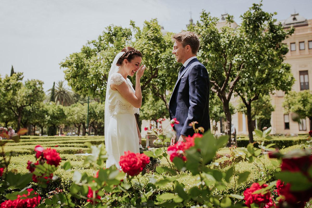 boda málaga novios flores