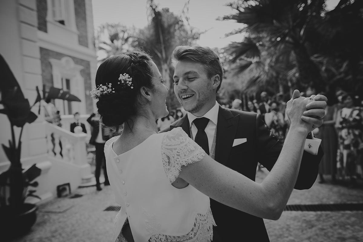 novios baile boda
