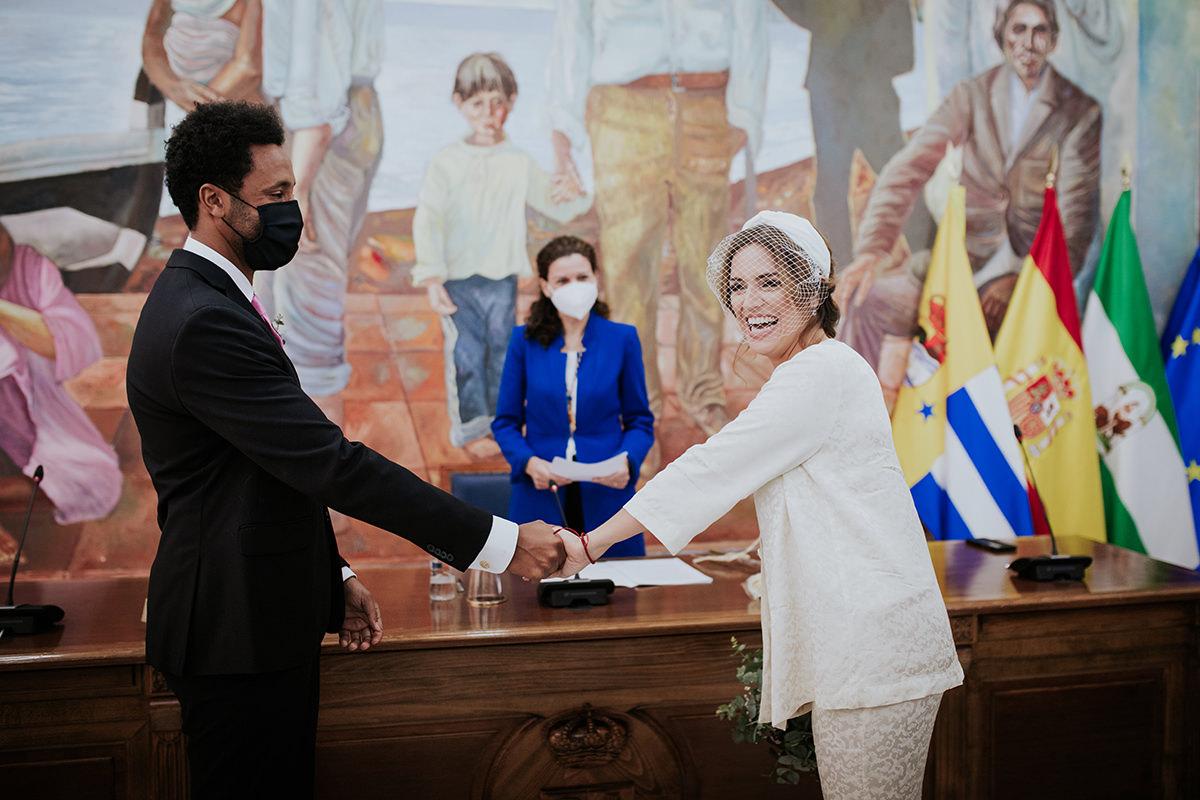 fotografía novios ceremonia civil