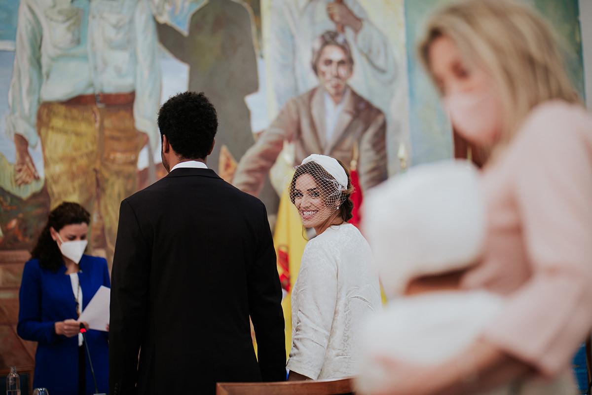fotografía novia hija ceremonia