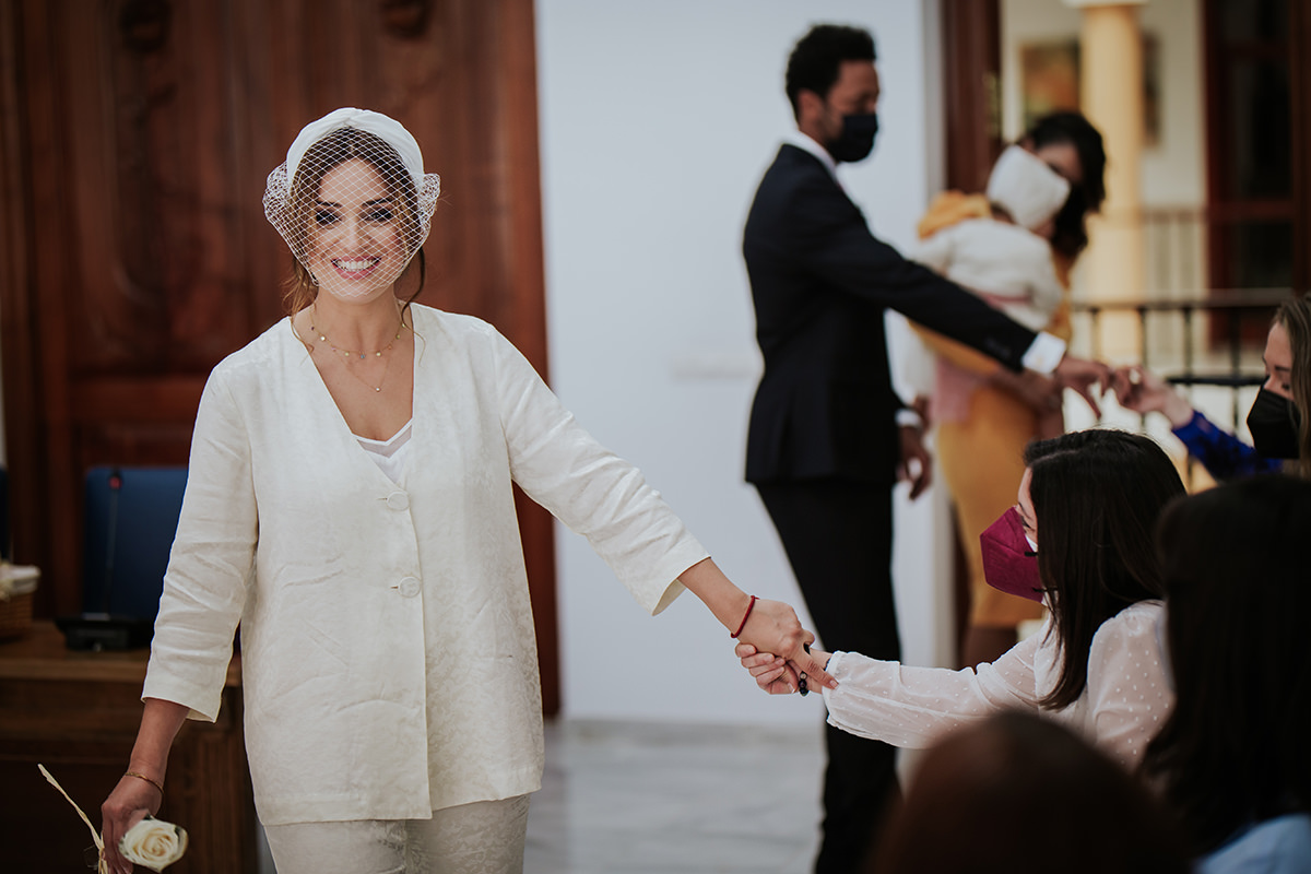 fotografía novia invitadas