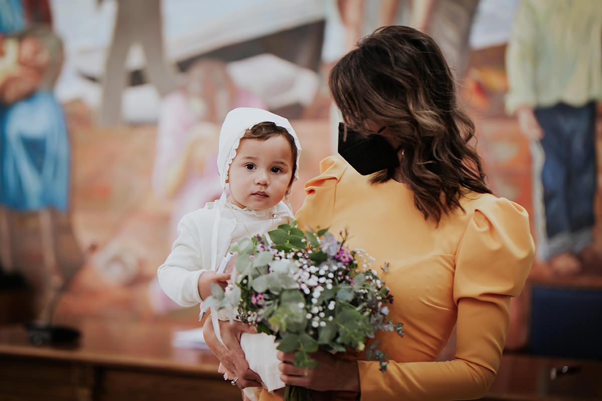 fotografía niña boda