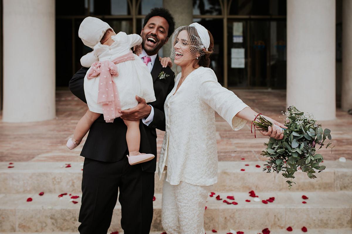 fotografía familia boda