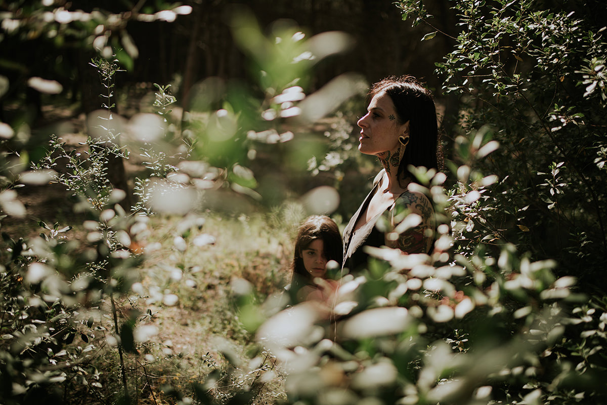 Fotografía familia bosque