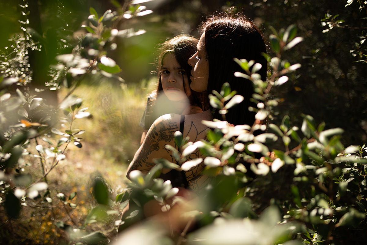 Fotografía familia bosque málaga