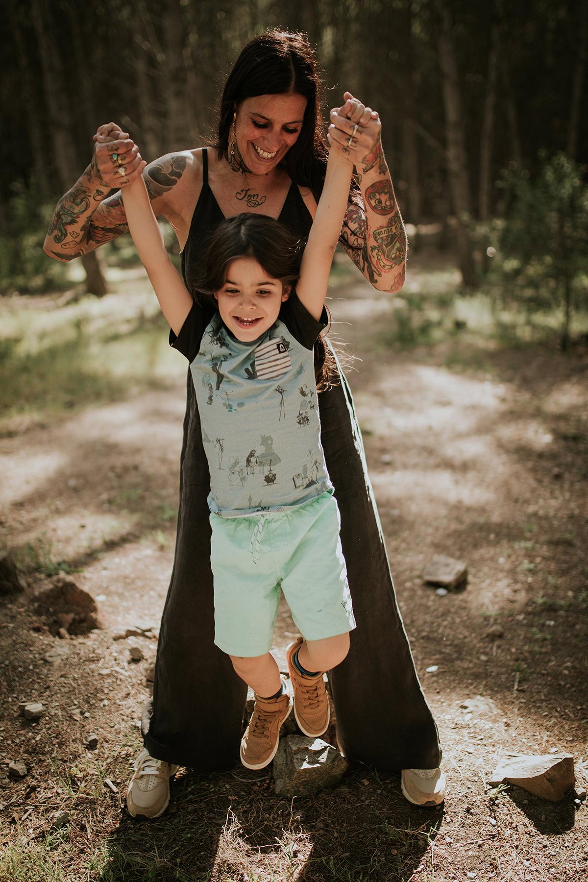 Fotografía familia tatuajes