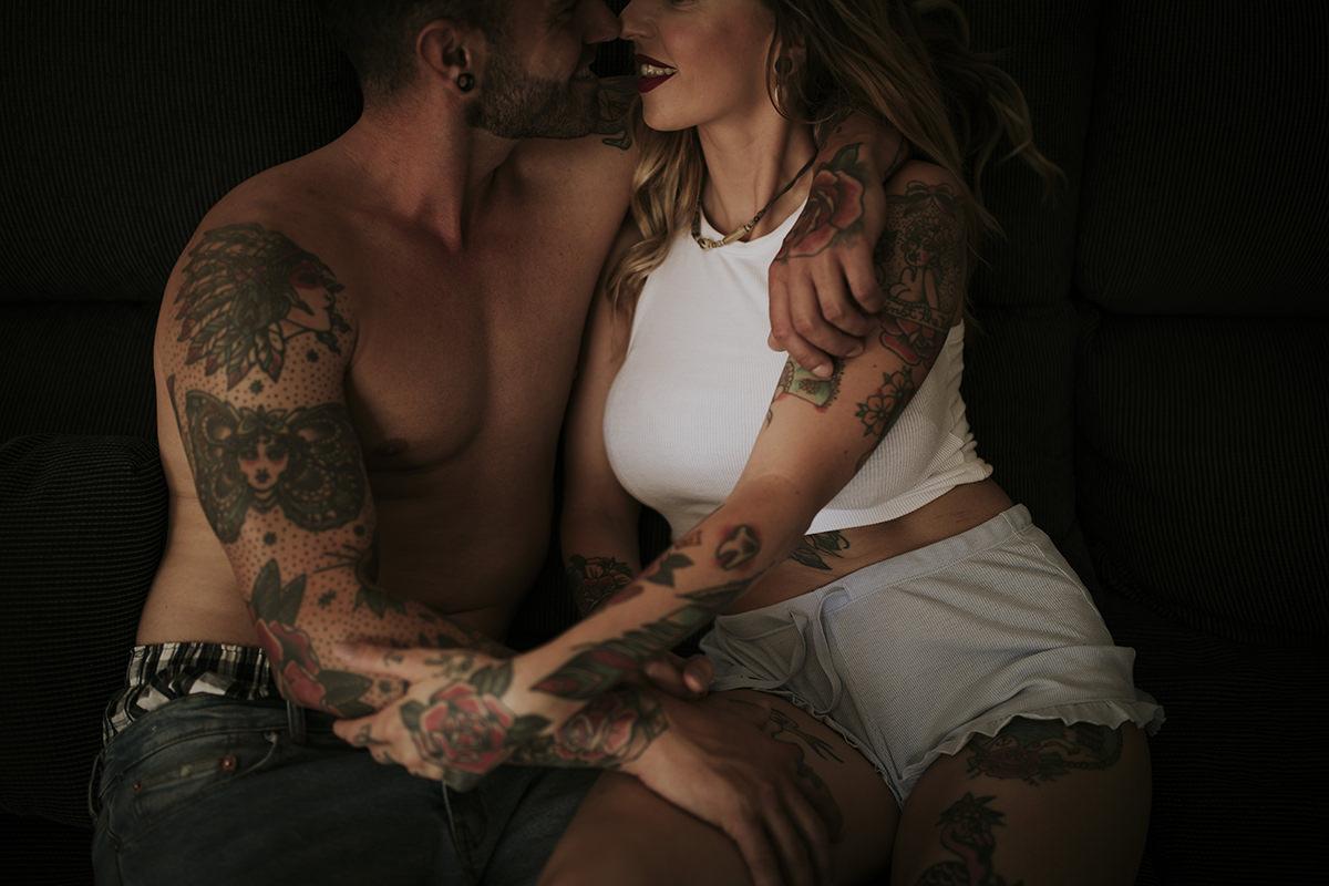 fotografía íntimo parejas tattoo