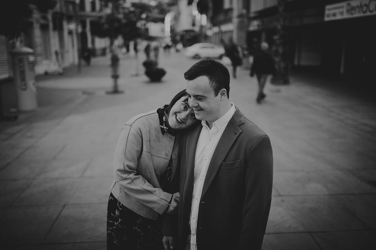fotografía pareja abrazo soho