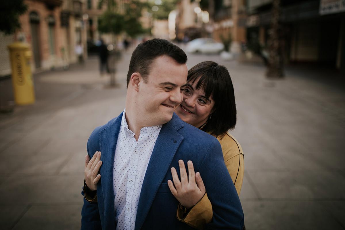 fotografía abrazo pareja amor