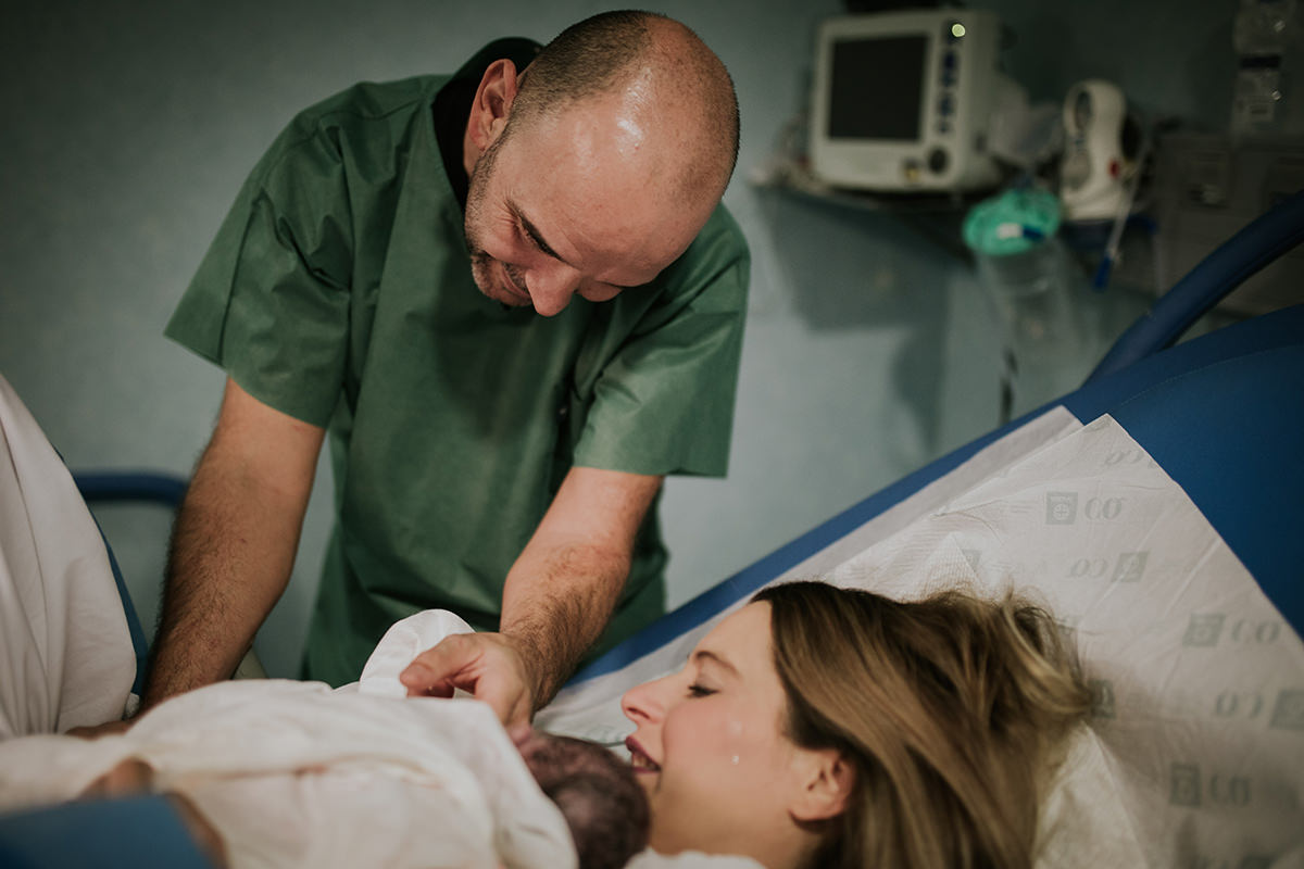 Fotografía parto nacimiento bebé