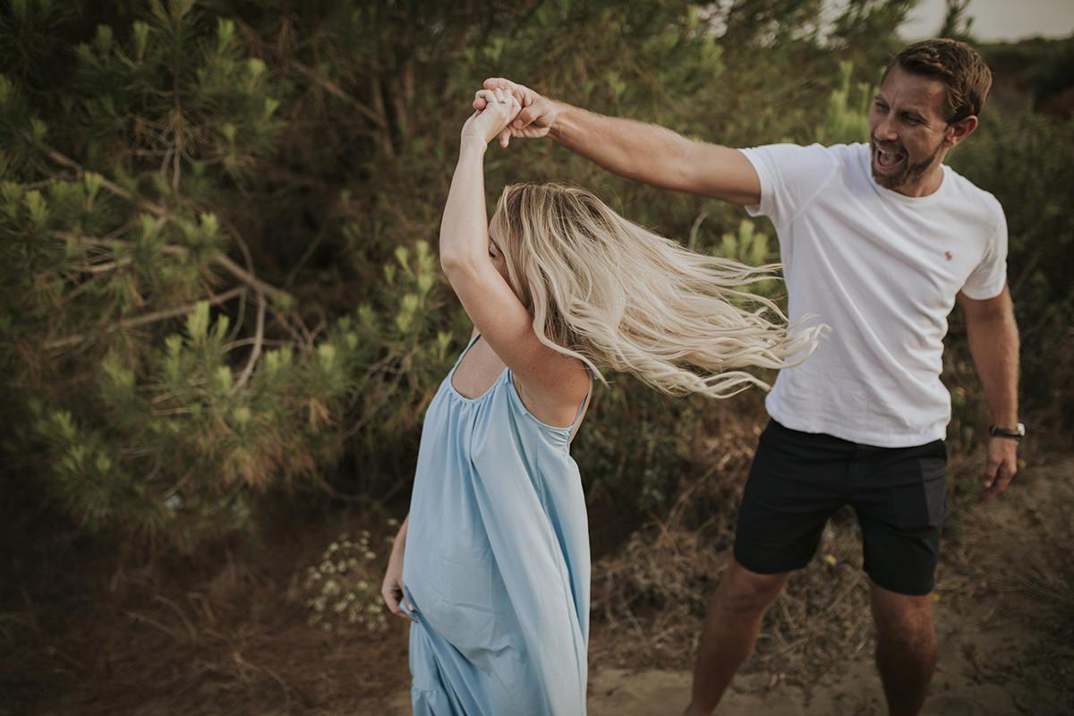 fotografía baile playa