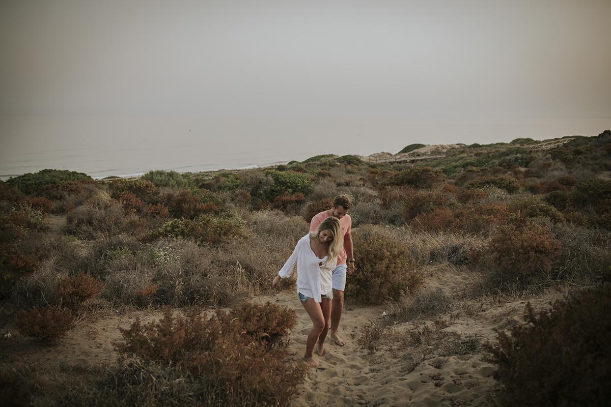 fotografía novios dunas