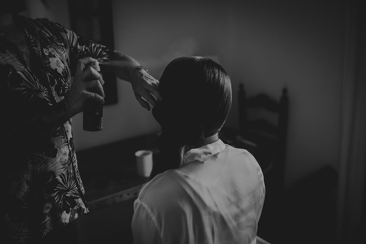 fotografía novia pelo