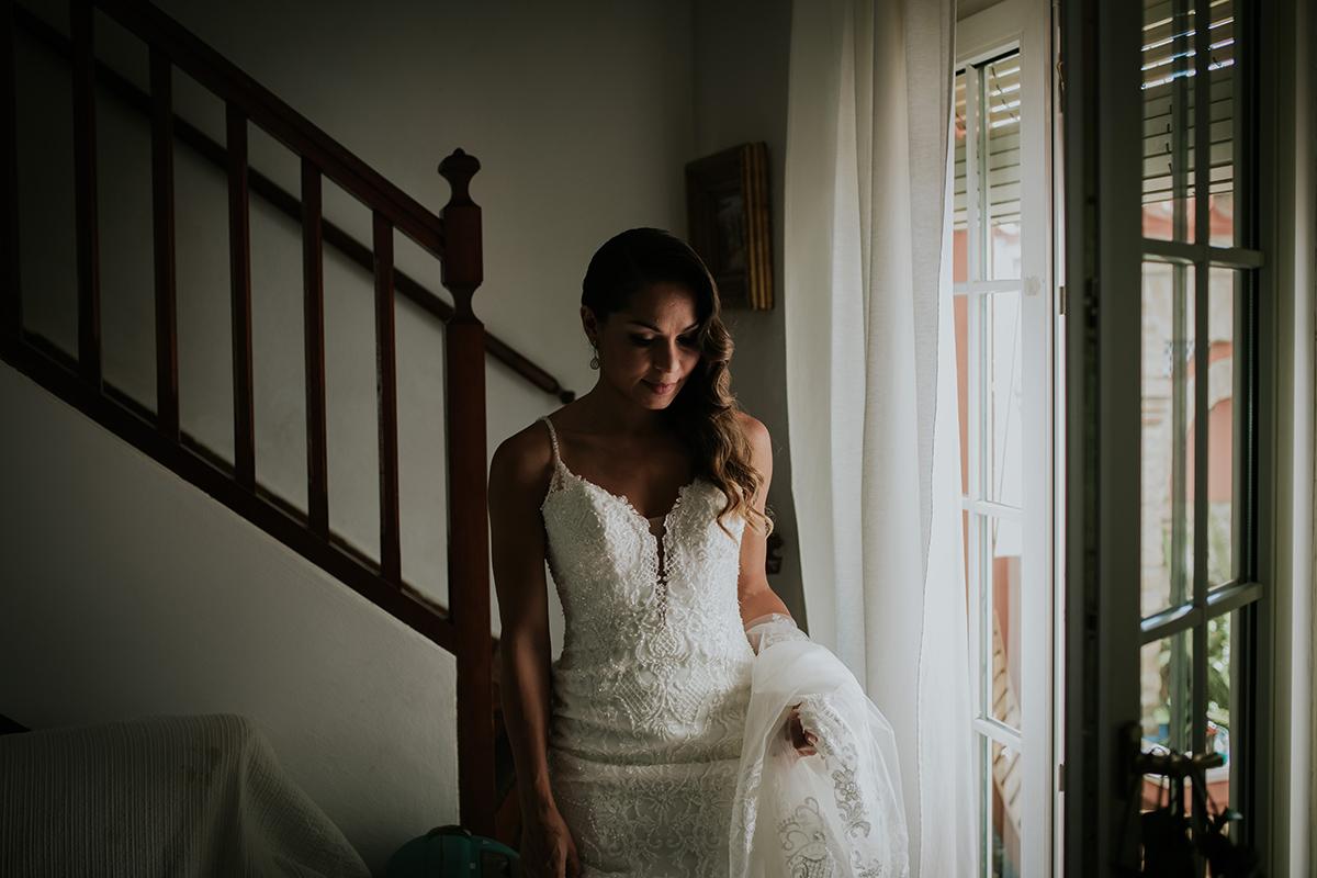fotografía vestido novia