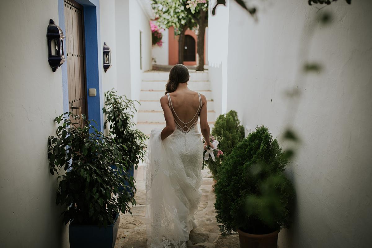 detalle espalda novia calles marbella