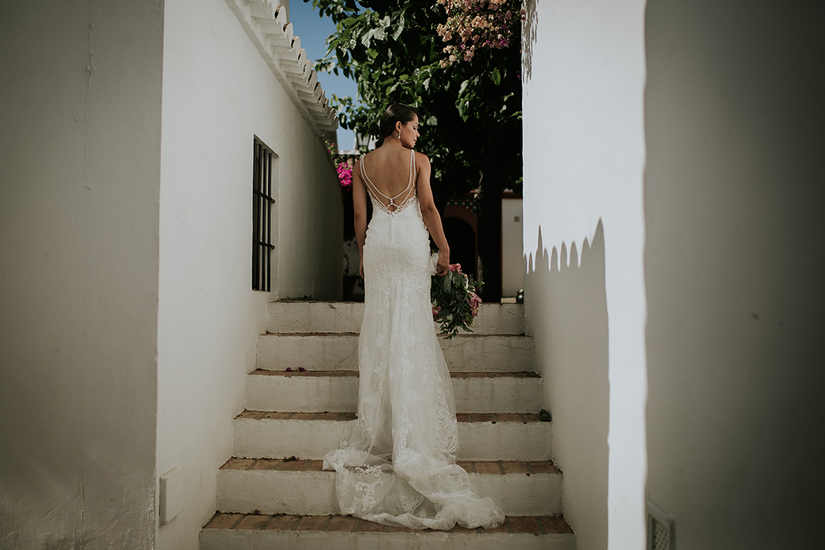 detalle vestido boda