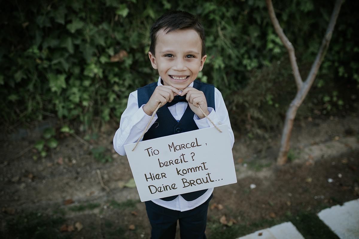 retrato niño boda marbella