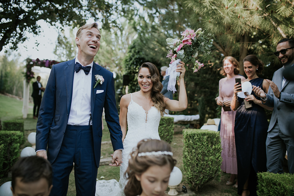 fotografía novios ramo boda