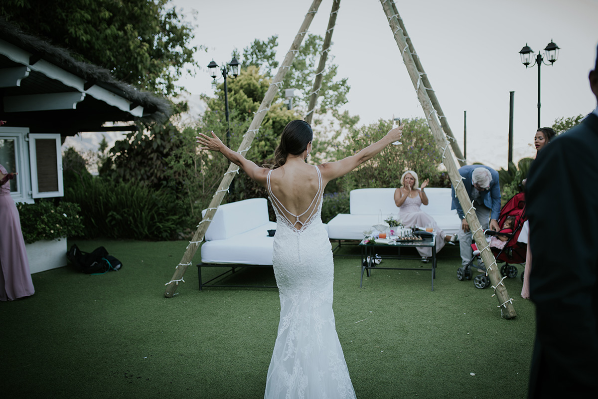 fotografía espalda novia