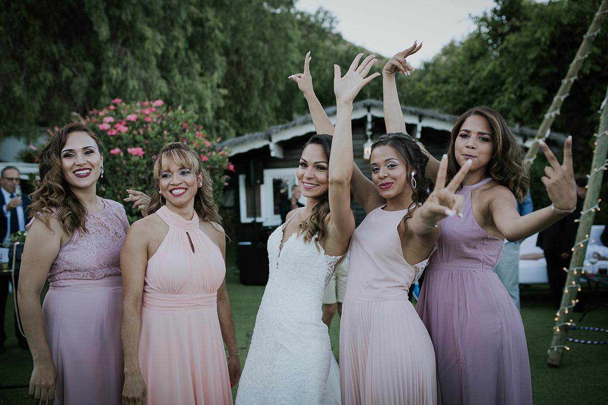 fotografía damas honor boda