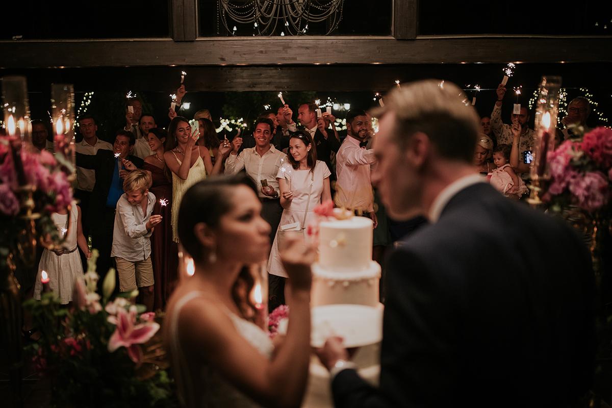 fotografía boda tarta