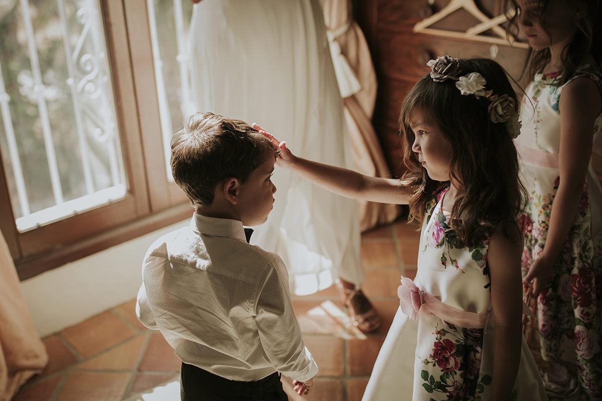 niños boda preparativos