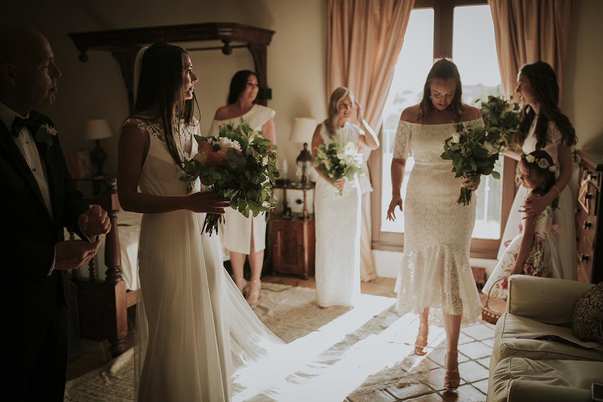 fotografía boda novia vestido