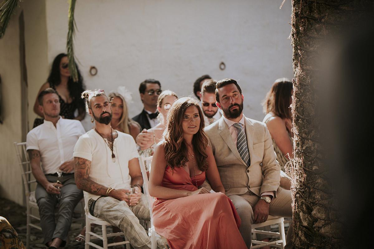 fotografía boda invitados