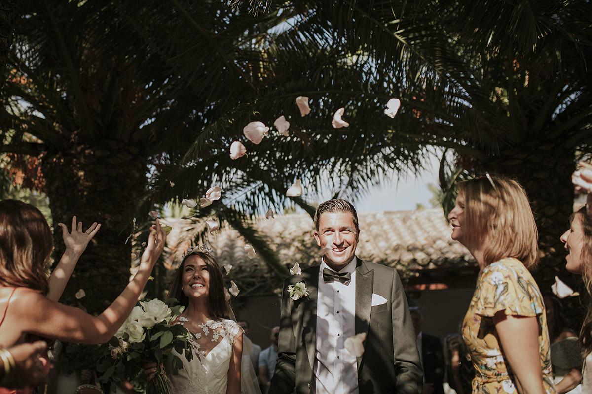 fotografía petalos ceremonia