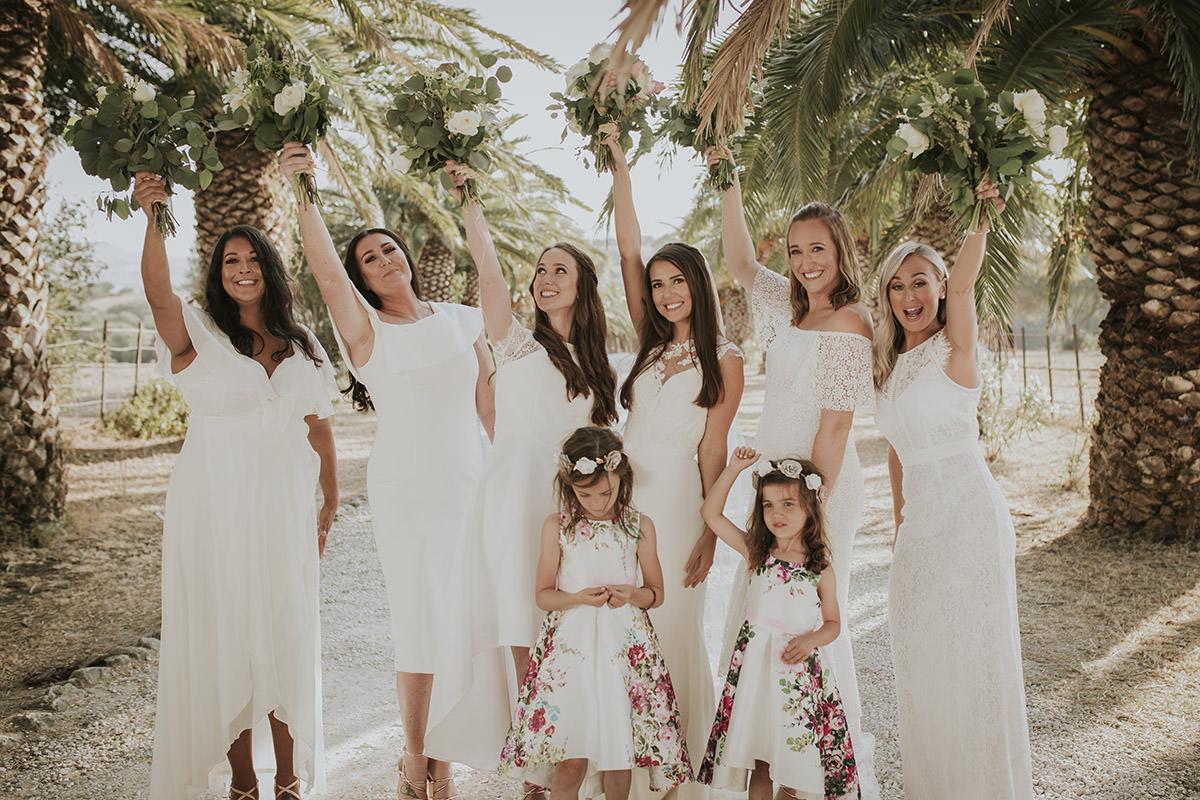 fotografía mujeres boda damas honor