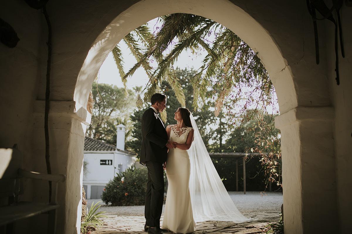 fotografía novios boda cortijo aguilon