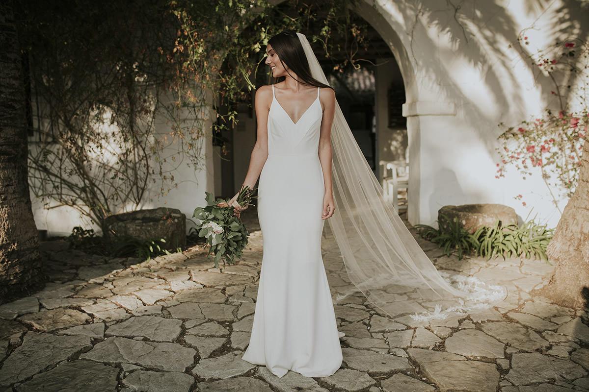 retrato novia vestido
