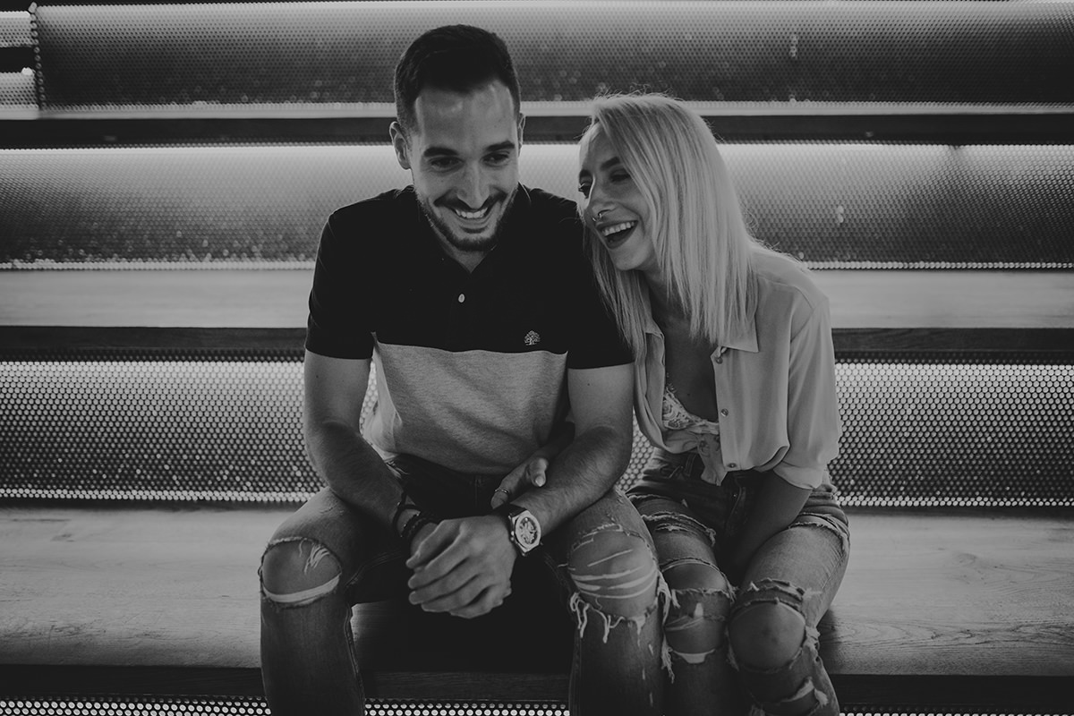 fotografía pareja risa